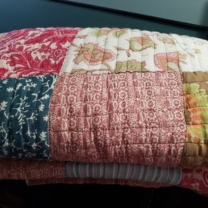 Palampore Floral Patchwork Quilt King